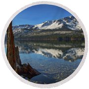 Mount Tallac And Fallen Leaf Lake Round Beach Towel