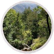 Mount Tamalpais Forest View Round Beach Towel