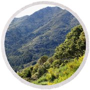 Mount Tamalpais From Blithedale Ridge Round Beach Towel