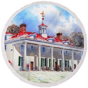 Mount Vernon After The Squall Round Beach Towel