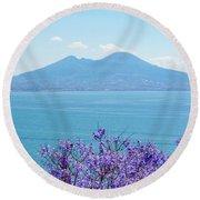 Mount Vesuvius 1 Round Beach Towel