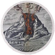 Mount Vesuvius, 1665 Round Beach Towel