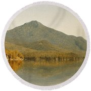Mount Whiteface From Lake Placid Round Beach Towel by Albert Bierstadt