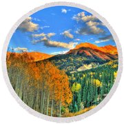 Mountain Beauty Of Fall Round Beach Towel