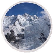 Mountain Cloud Scape Round Beach Towel