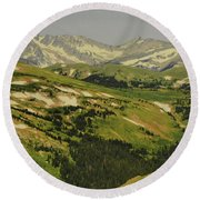 Mountain Country Round Beach Towel