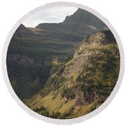 Mountain Glacier Round Beach Towel