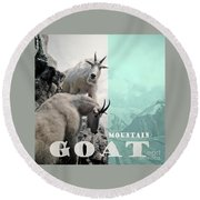 Mountain Goats Round Beach Towel