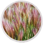 Mountain Grass Round Beach Towel