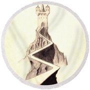 Mountain Keep Round Beach Towel