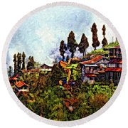 Mountain Living Impasto Round Beach Towel