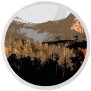 Mountain Majesty Round Beach Towel