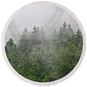 Mountain Mist Round Beach Towel
