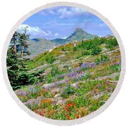 Mountain Of Color Round Beach Towel