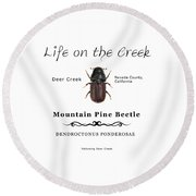 Mountain Pine Beetle Color Round Beach Towel