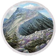 Mountain Ridge Round Beach Towel