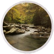 Mountain Stream 2 Round Beach Towel