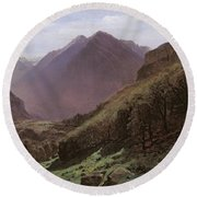 Mountain Study Round Beach Towel by Alexandre Calame
