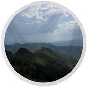 Mountain Top 2 Round Beach Towel