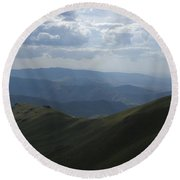 Mountain Top 3 Round Beach Towel
