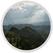 Mountain Top 5 Round Beach Towel
