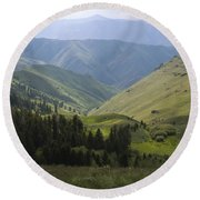 Mountain Top 6 Round Beach Towel