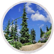 Mountain Trail - Olympic National Park Round Beach Towel