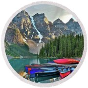 Mountain Tranquility Round Beach Towel