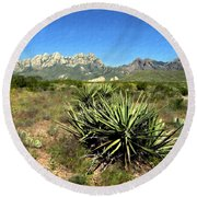 Mountain View Las Cruces Round Beach Towel