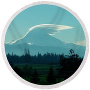 Mountain Wings Round Beach Towel