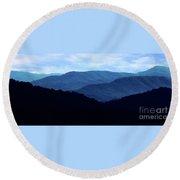 Mountains #27 Round Beach Towel