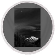 Mountains And Moons Round Beach Towel