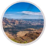 Mountains Below The Surface Round Beach Towel