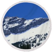 Mountains Covered With Snow, Little Round Beach Towel