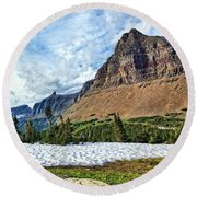 Mountains In Glacier National Park 2 Round Beach Towel