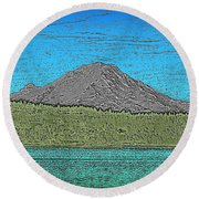 Mountains Majesty Round Beach Towel