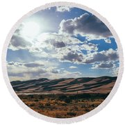 Mountains Of Sand Round Beach Towel