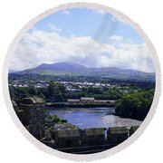 Mountains Of Wales Round Beach Towel