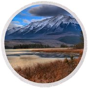 Mountains Over Talbot Round Beach Towel