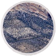 Mountainside Abstract - Red Rock Canyon Round Beach Towel
