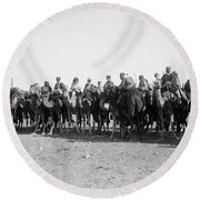 Mounted Guard, 1921 Round Beach Towel