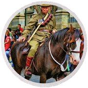 Mounted Infantry 2 Round Beach Towel
