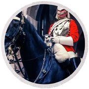 Mounted Life Guard Round Beach Towel