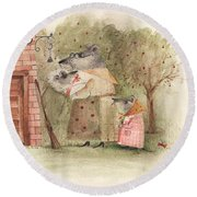 Mouse Family Round Beach Towel