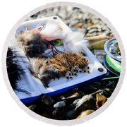 Mousing Round Beach Towel