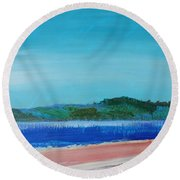 Mouth Of The River Exe Round Beach Towel