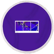 Movement In Blue Round Beach Towel