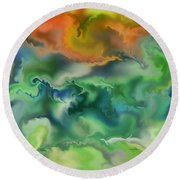 Movement Of The Natural World Round Beach Towel
