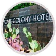 Movie Colony Hotel Palm Springs Round Beach Towel
