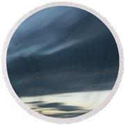 Moving Clouds Abstract Background Round Beach Towel
